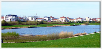 AIVB : le grand lac artificiel situé à proximité du centre ville de Bussy