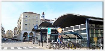 AIVB : la gare du RER A (Ligne Rouge) de Bussy Saint Georges