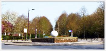AIVB : vue sur l'un des rondpoints de la ville de Bussy st Georges