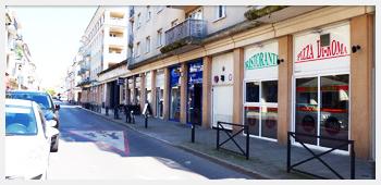 AIVB : vue sur la vue commerçante de la commune de Bussy St Georges
