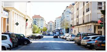 AIVB : la rue de la gare RER de Bussy Saint Georges